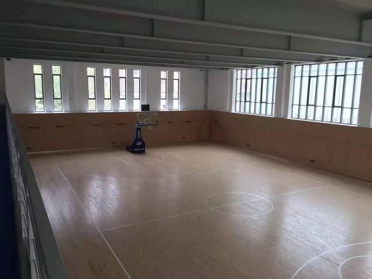 北海学校橡胶木体育地板批发价