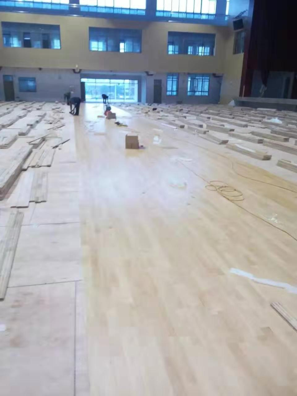 福州学校橡胶木体育地板批发价