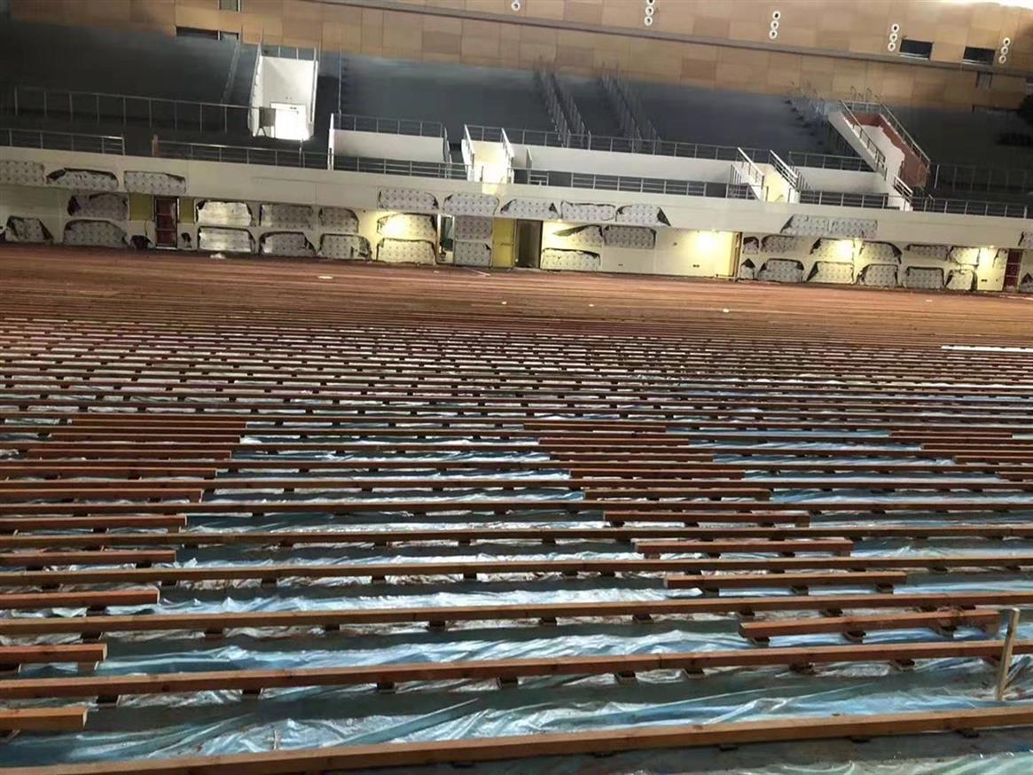 保山学校橡胶木体育地板包安装