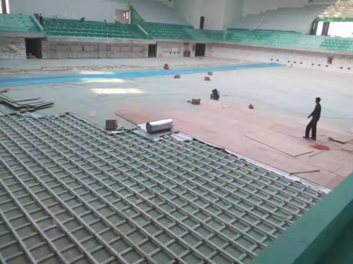 佛山学校橡胶木体育地板包安装