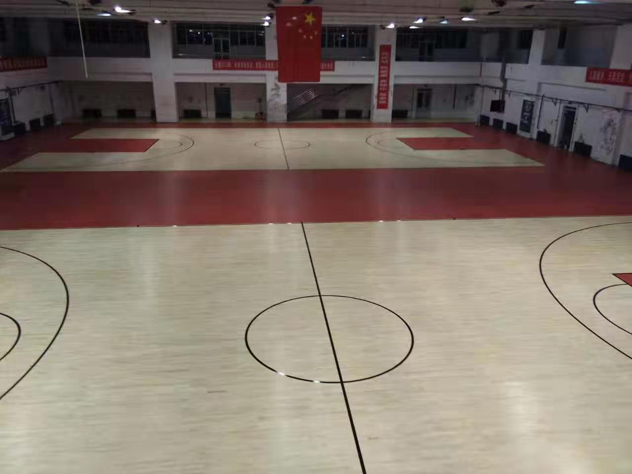 丽江三秒区体育馆运动木地板翻新厂