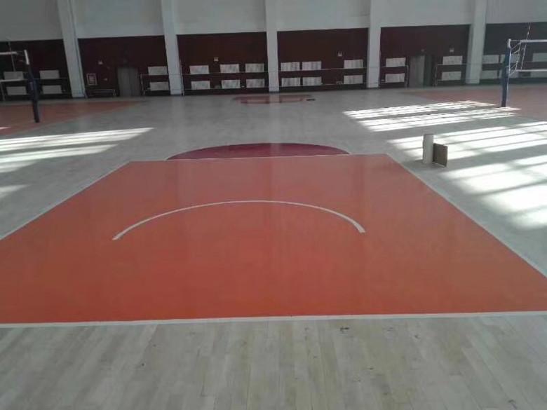 潜江篮球硬木运动木地板