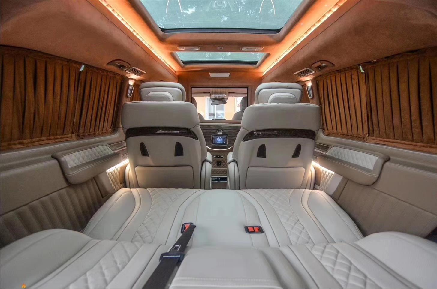 长宁奔驰R320内饰改装航空座椅木地板