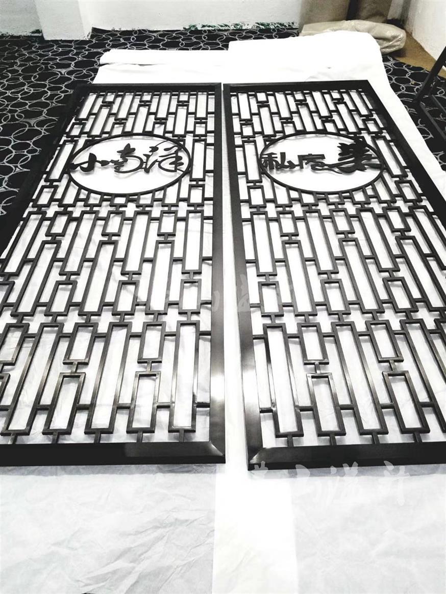 湖州典雅铜雕花屏风厂