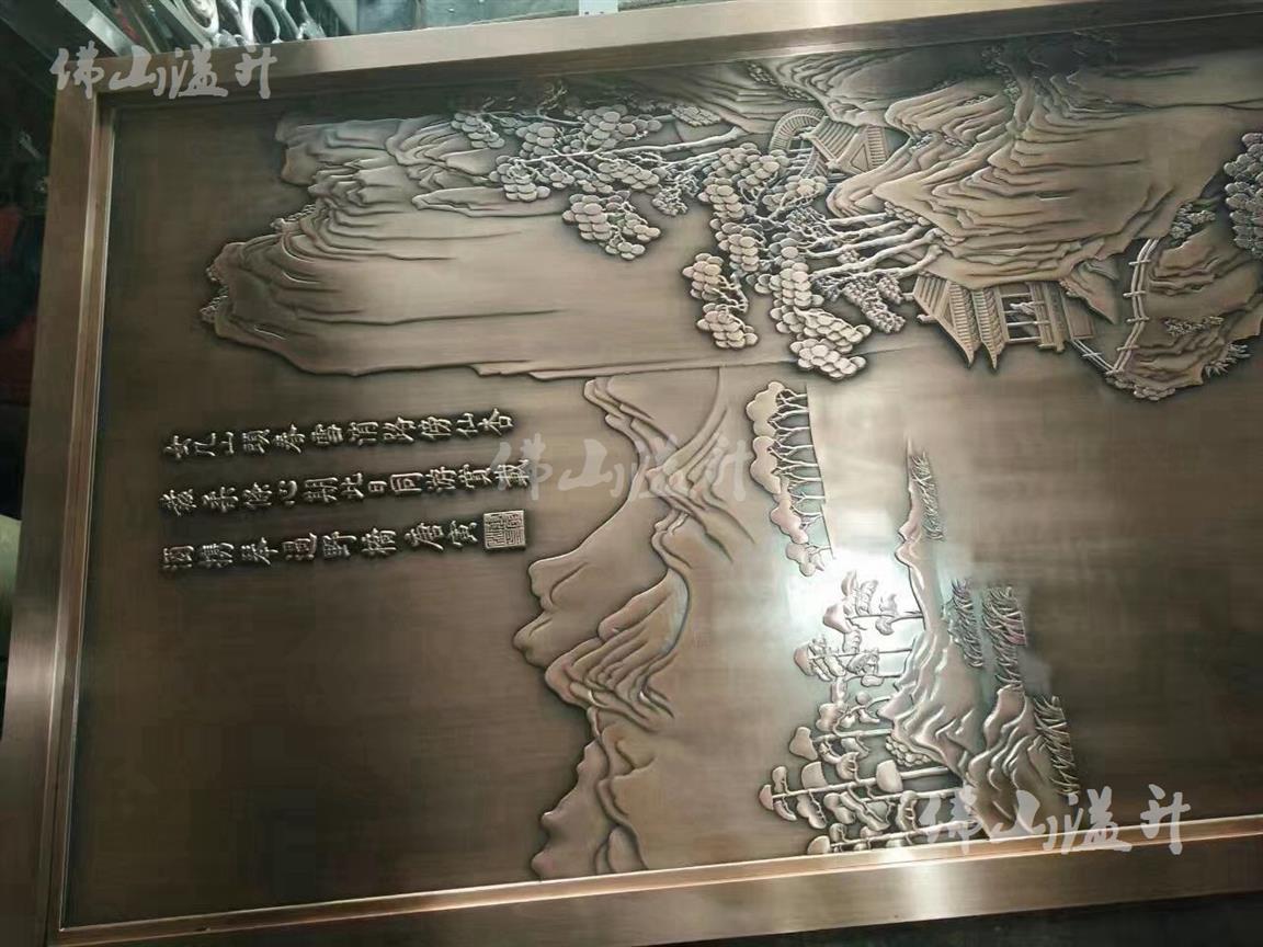 滁州玄关铜雕花屏风促销