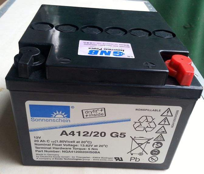 德国阳光蓄电池A412/8.5SR直销