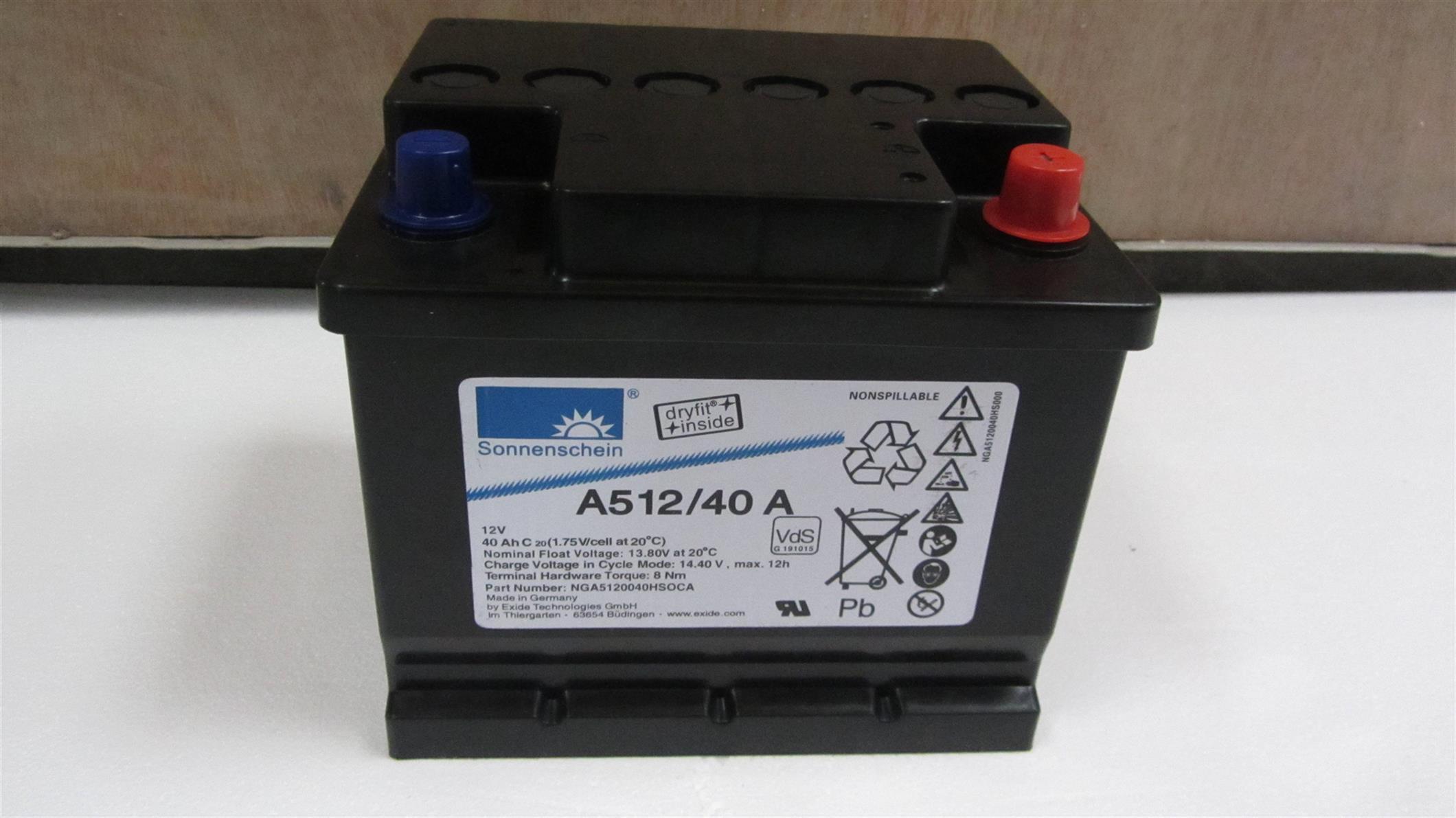 德国阳光蓄电池A412/5.5SR参数