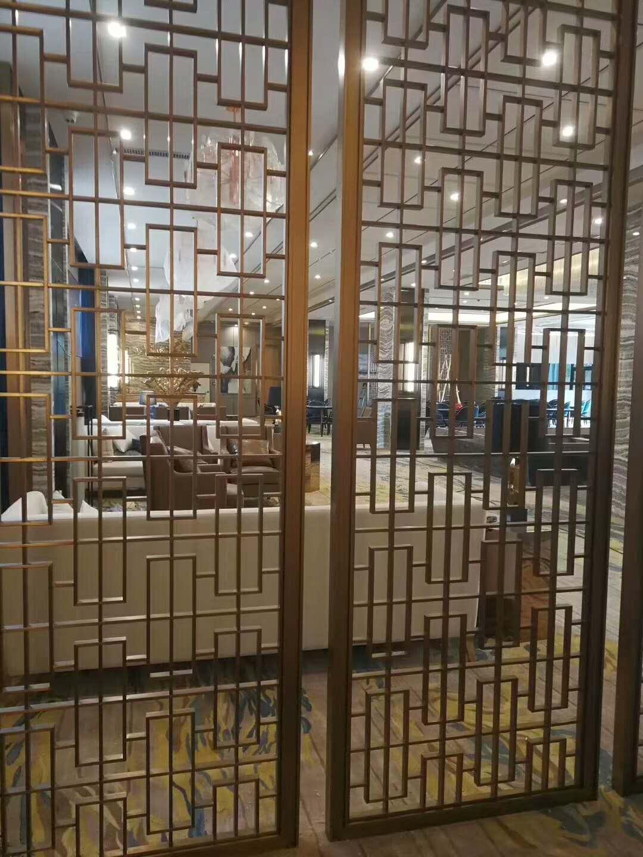 洛阳典雅铜板雕刻屏风隔断厂