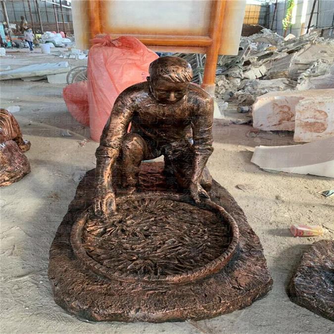 广州玻璃钢仿铜人物雕塑多少钱