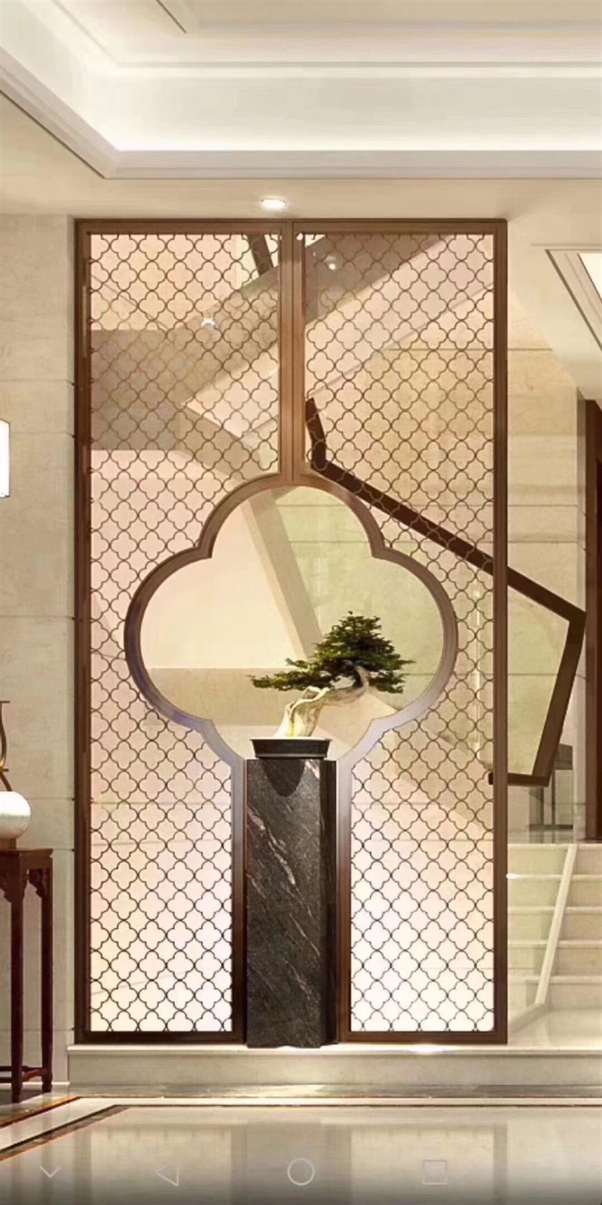 徐州简单铝板镂空设计屏风厂