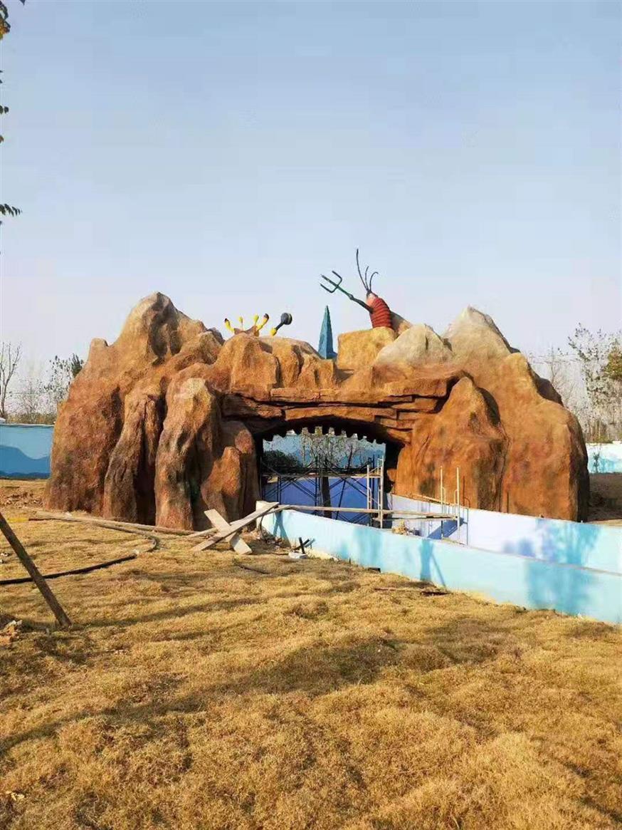 银川水泥塑石假山厂