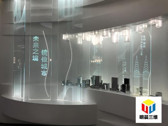 南昌新奇玻璃激光內雕工藝廠 發光隔斷玻璃