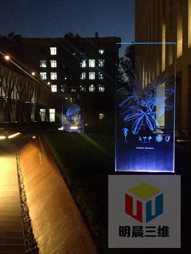 柳州漂亮玻璃激光內雕工藝加工