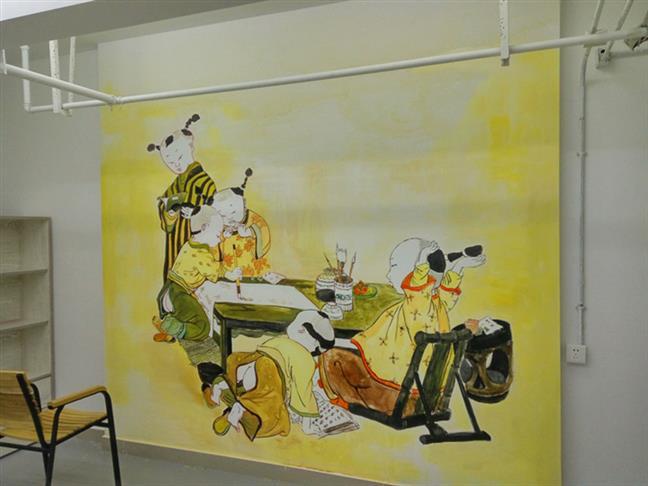 理塘墙绘车