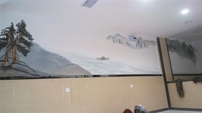 洛带古镇彩绘墙绘