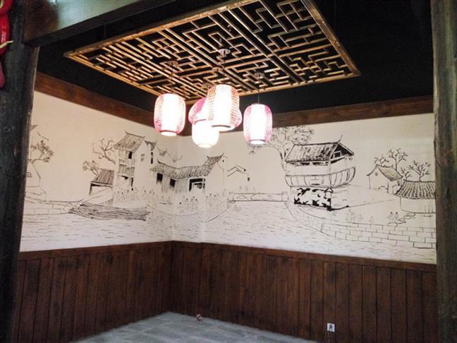 银泰城彩绘墙绘