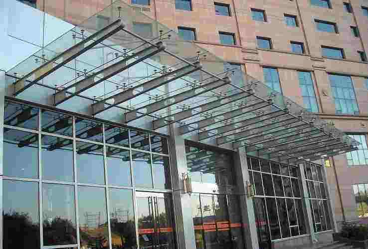 丰都钢结构玻璃雨棚 玻璃雨棚 欢迎咨询
