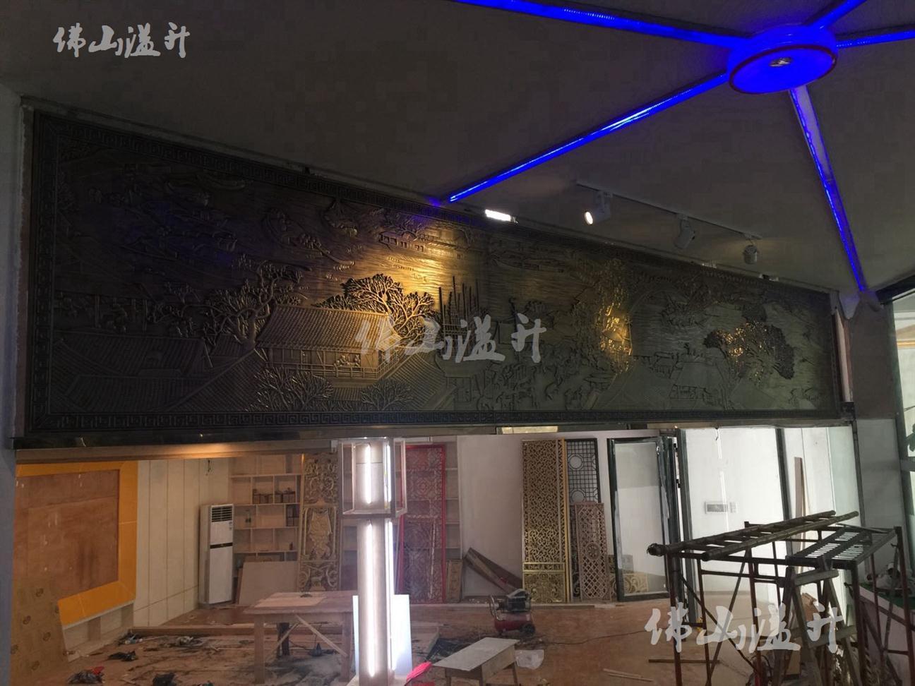 成都古铜立体壁画