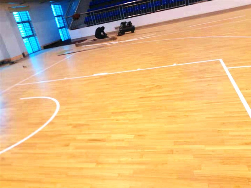 果洛剧院室内运动场木地板