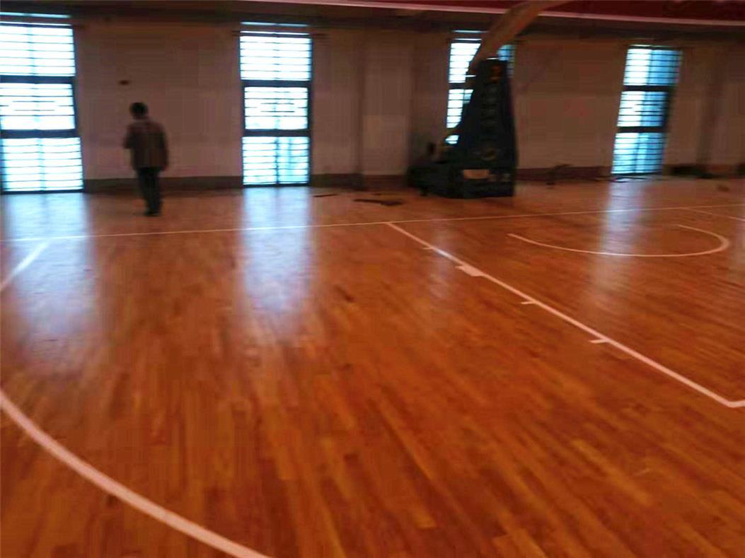临夏剧院室内运动场木地板