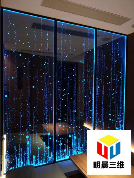 深圳新奇玻璃激光內雕工藝明晨三維