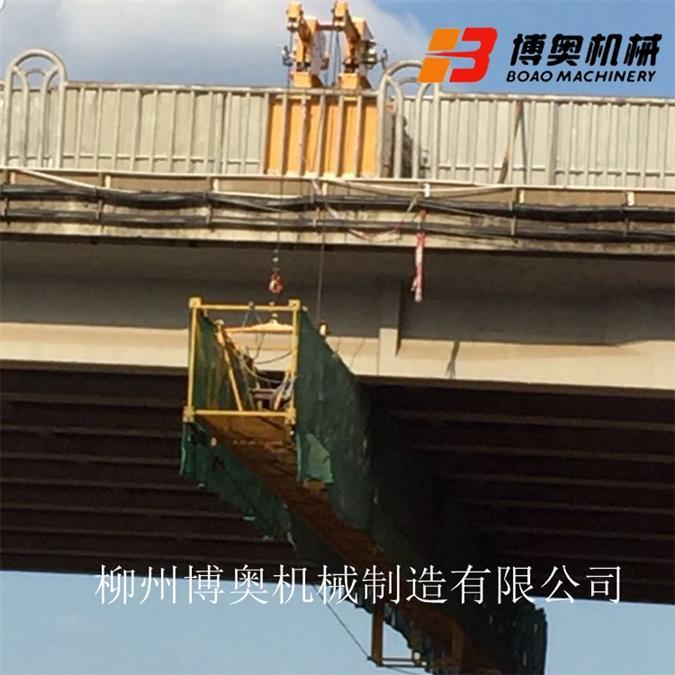宁波附近的桥梁施工吊篮