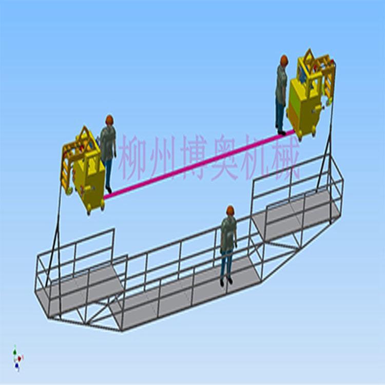 南京简易的桥梁施工吊篮图片
