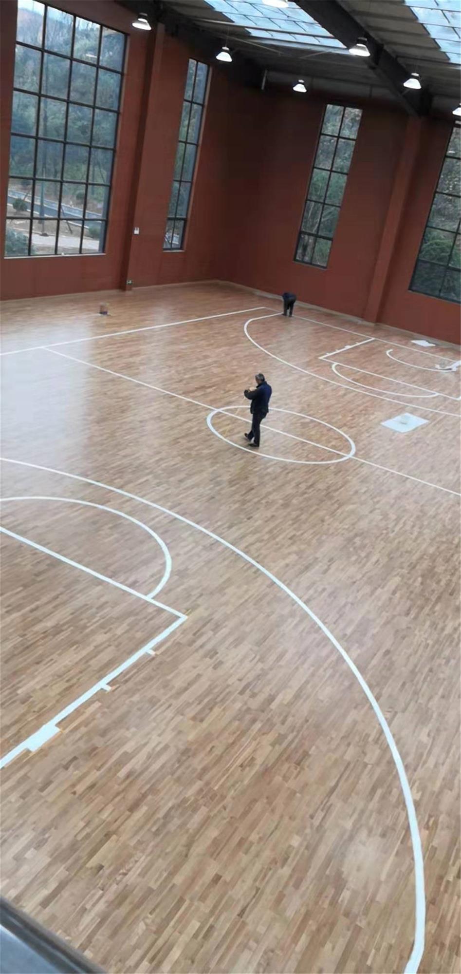 绍兴柞木体育场木地板