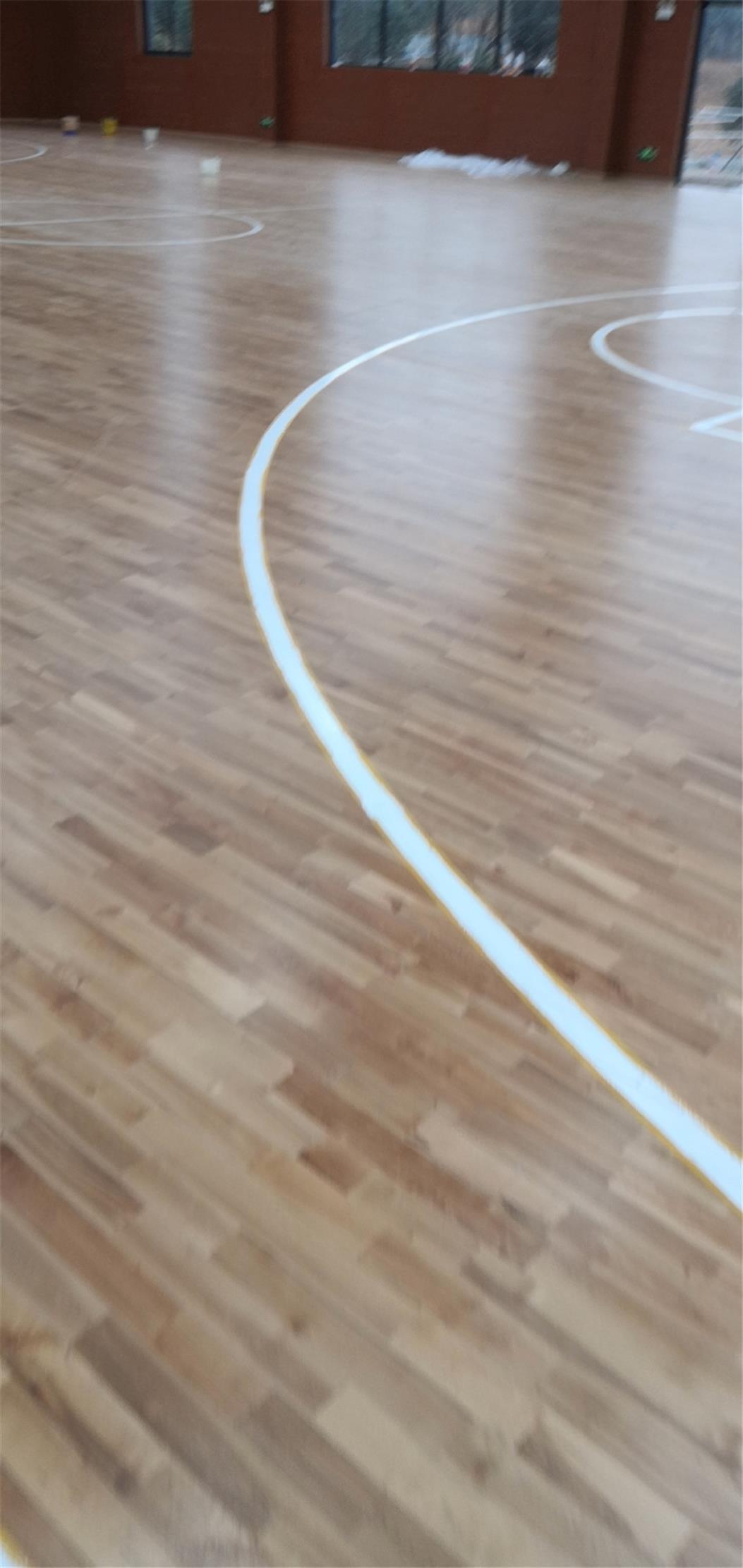 海北柞木体育场木地板