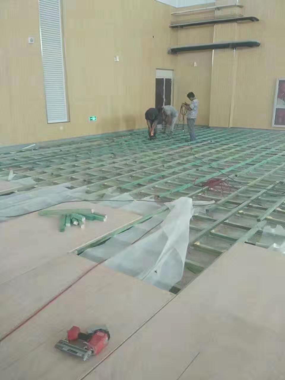 漳州实木羽毛球木地板
