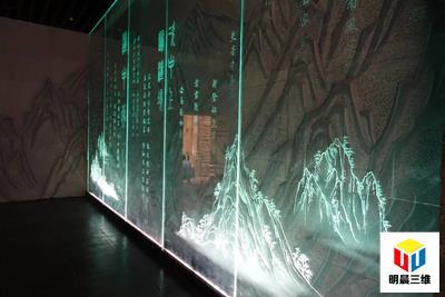明晨三維激光內雕發光玻璃