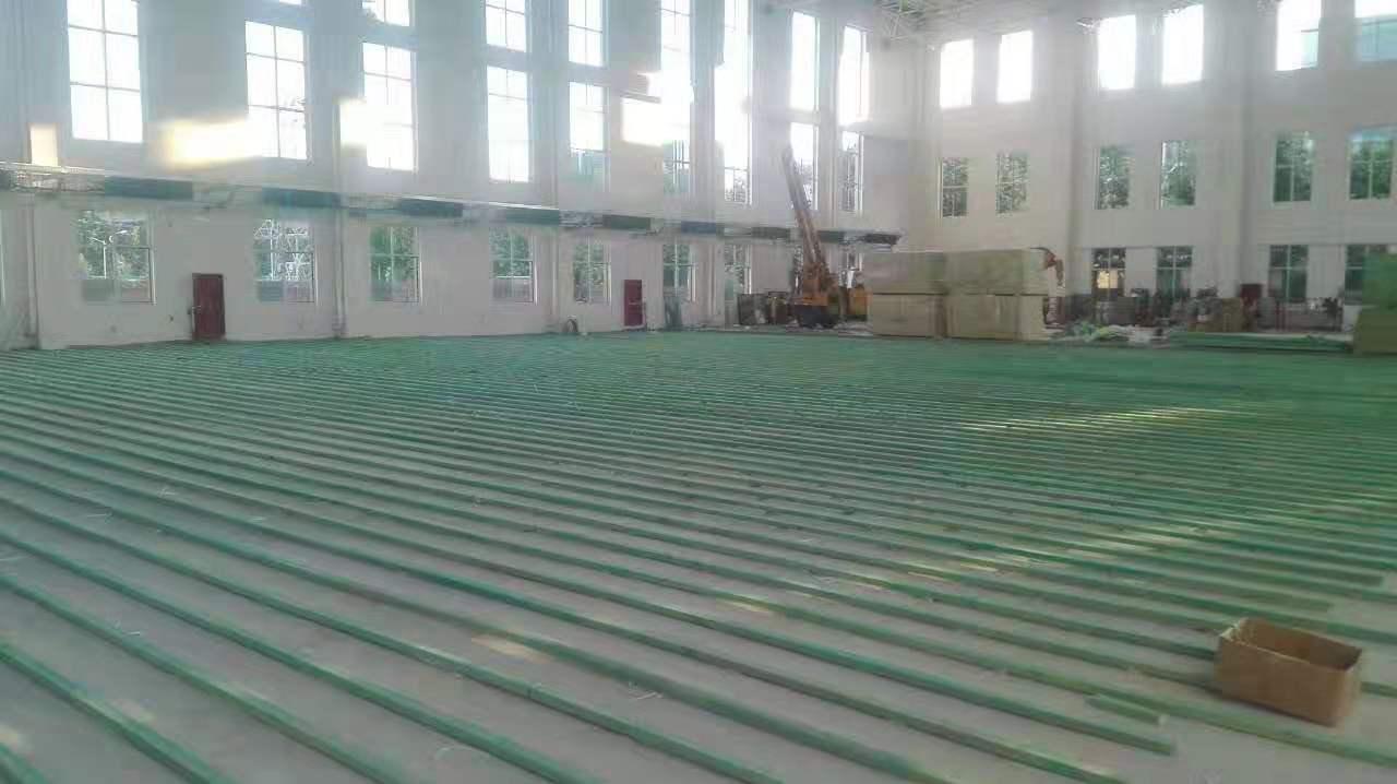 18厚实木运动地板工厂
