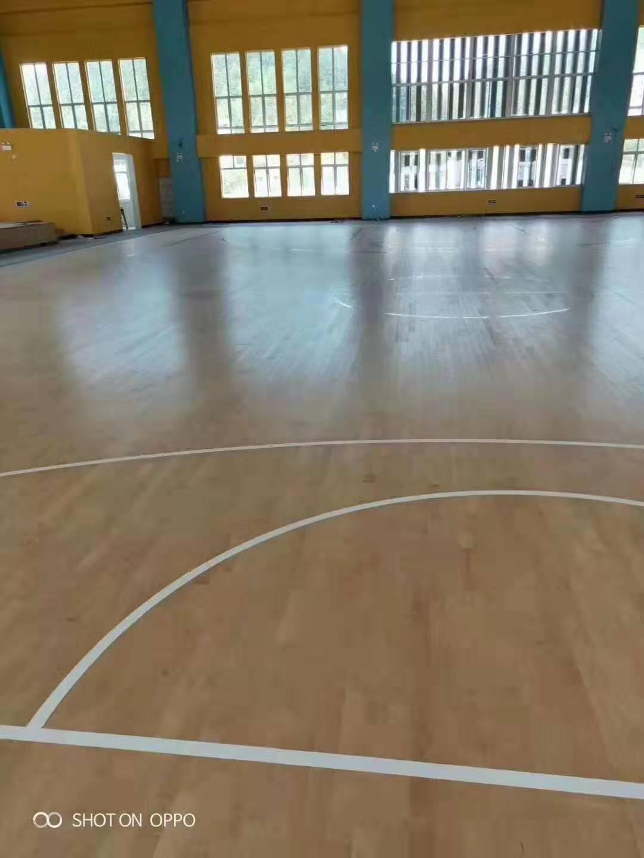 柞木实木运动地板维修