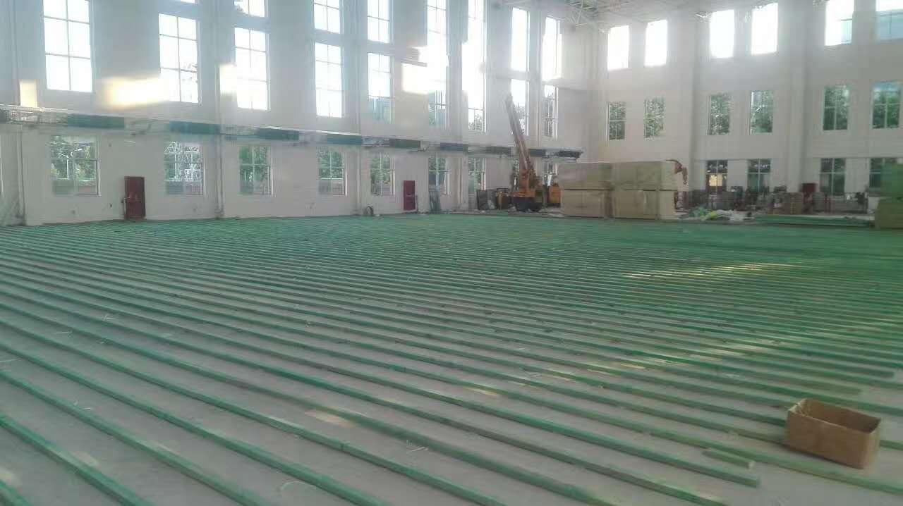 柞木实木运动地板安装