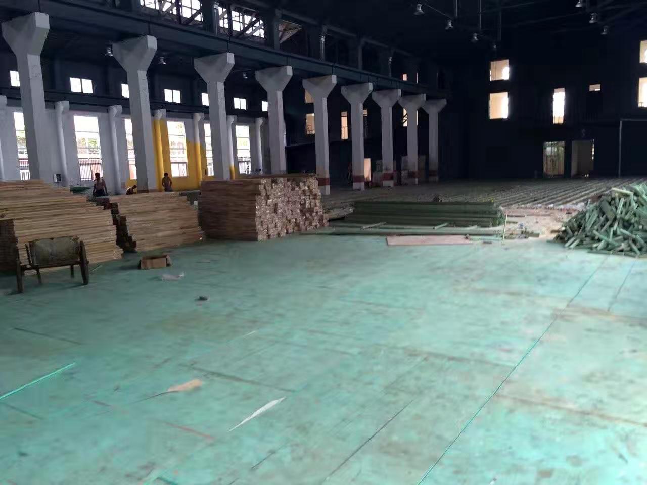 柞木实木运动地板施工