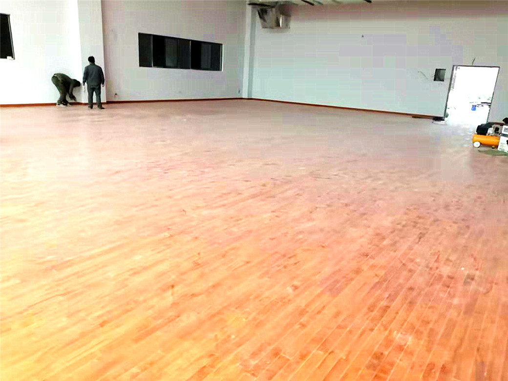 莱芜柞木体育木地板