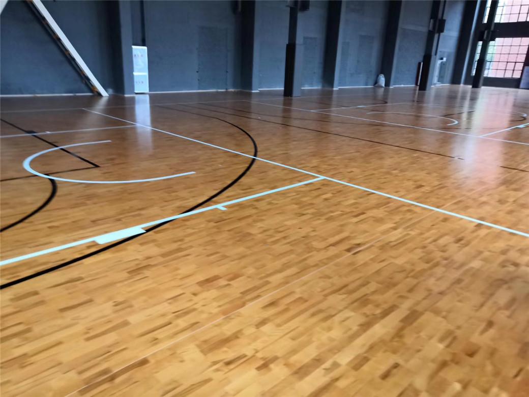 莆田学校篮球馆木地板
