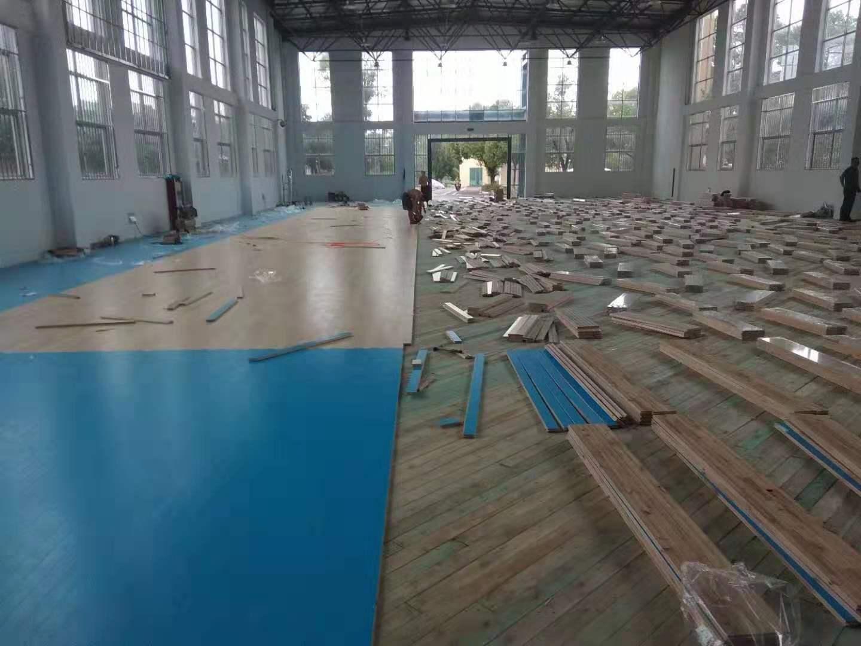 柞木运动木地板安装价格