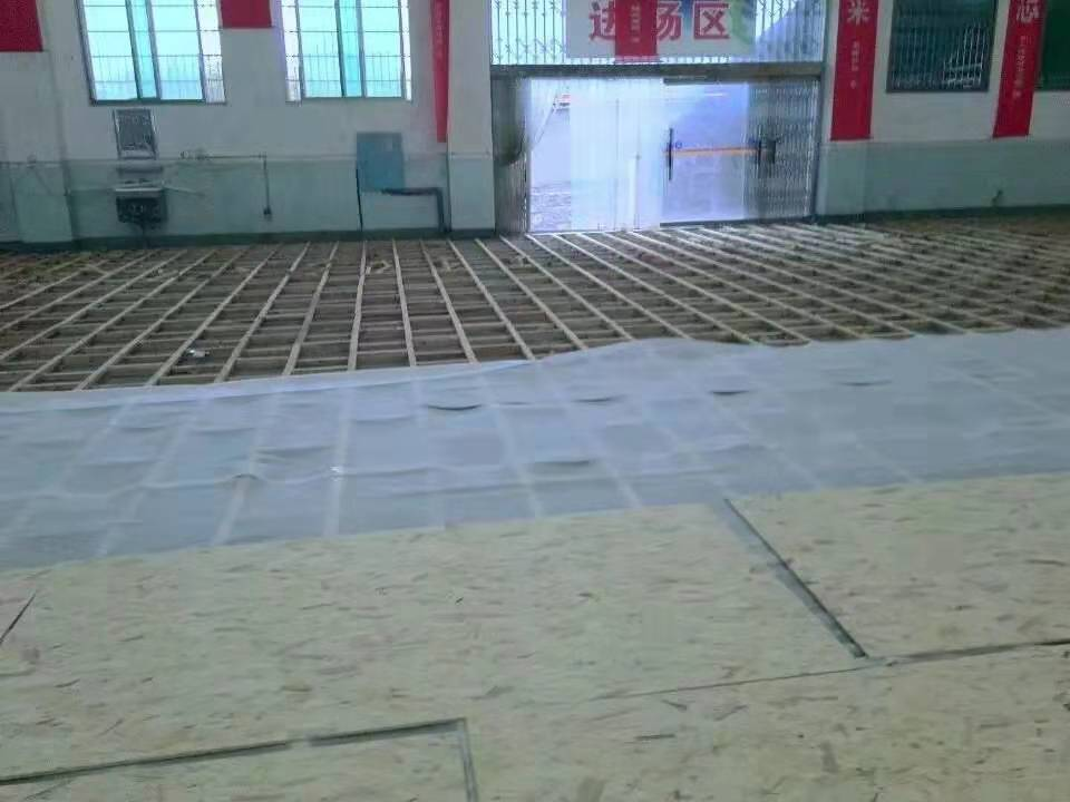 橡胶木运动木地板安装品牌