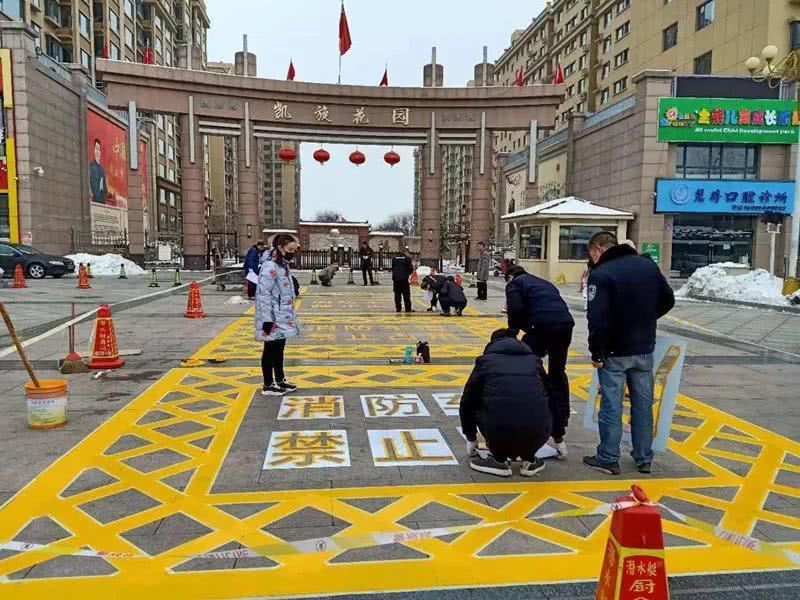 武汉消防通道划线定制
