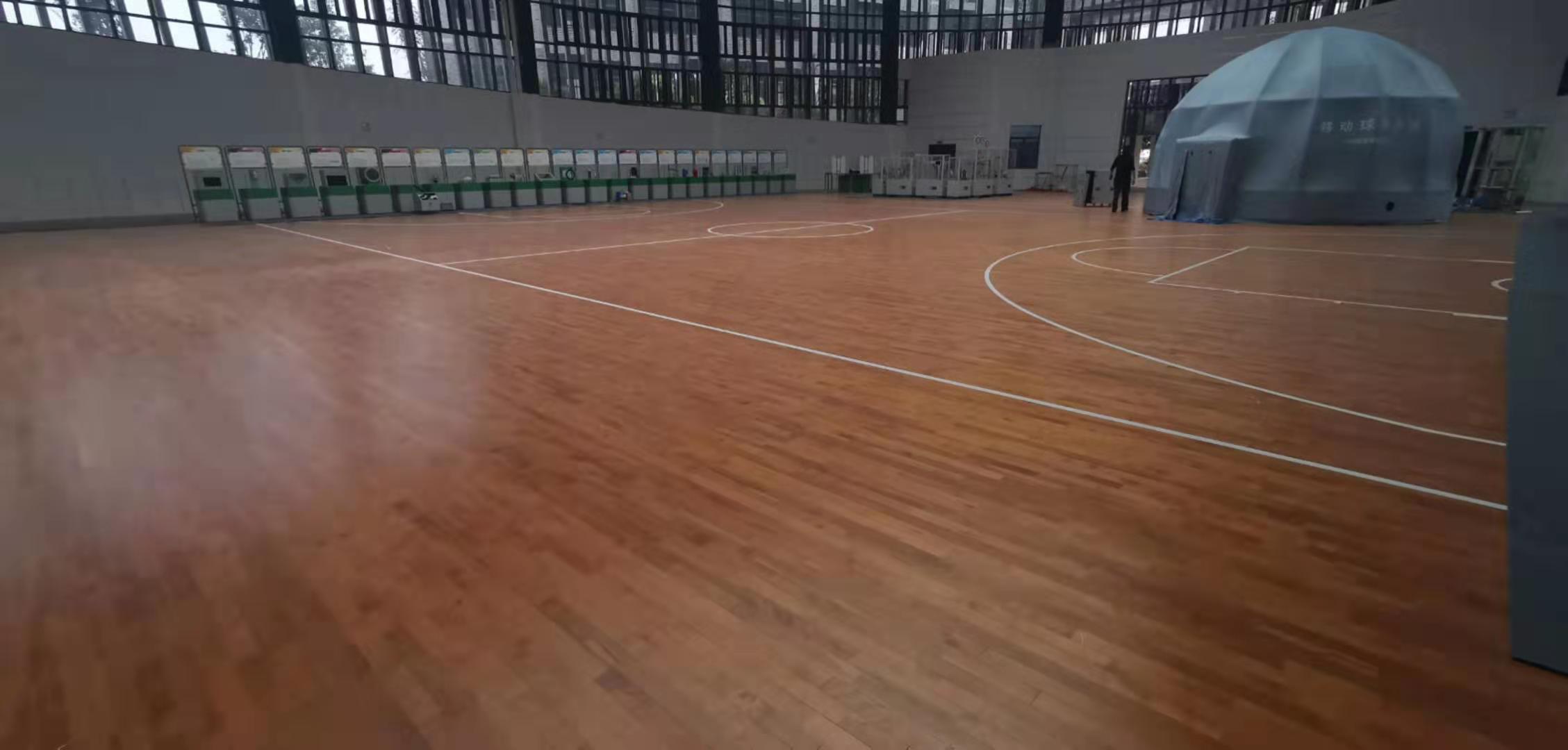 万宁企口篮球运动木地板