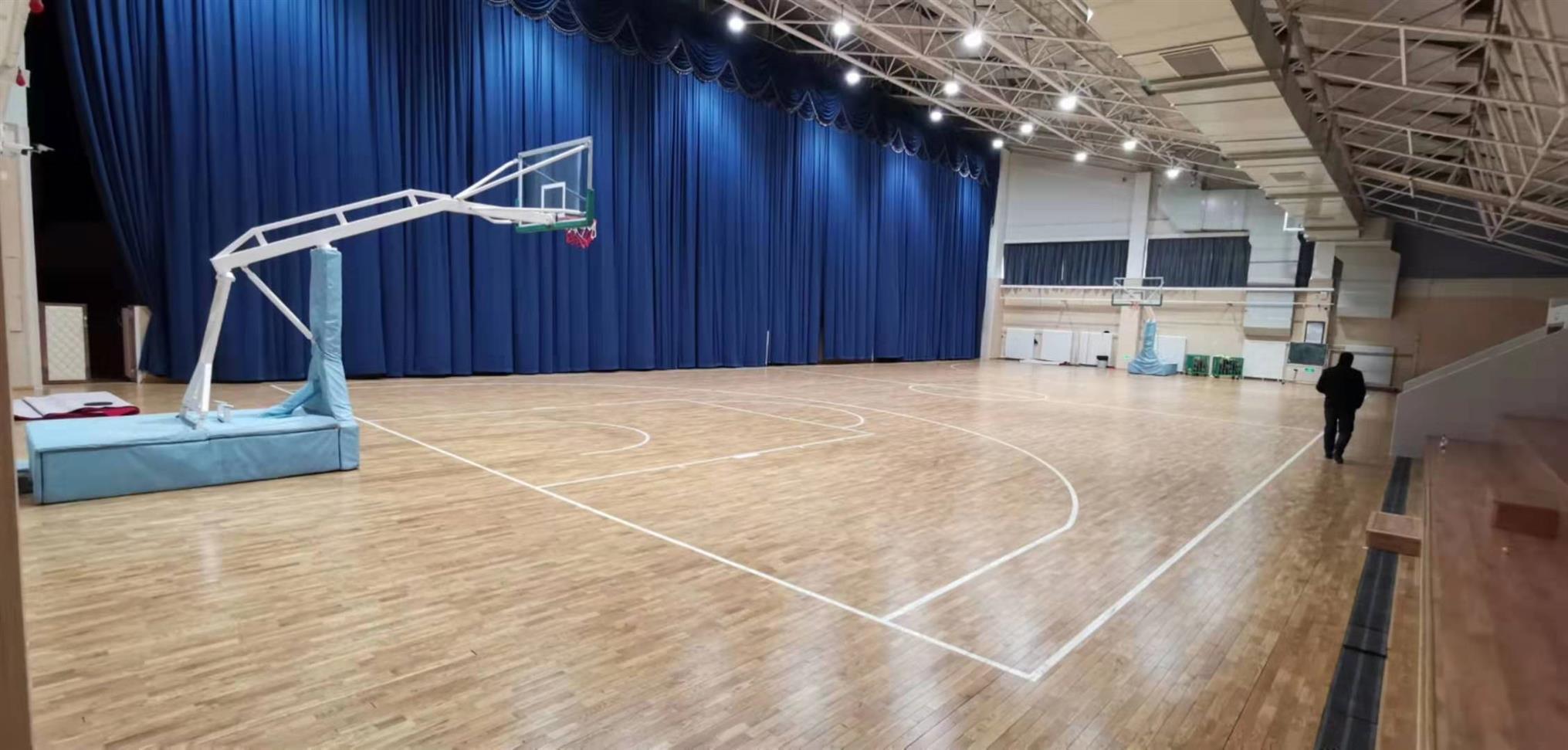 潜江硬木篮球运动木地板