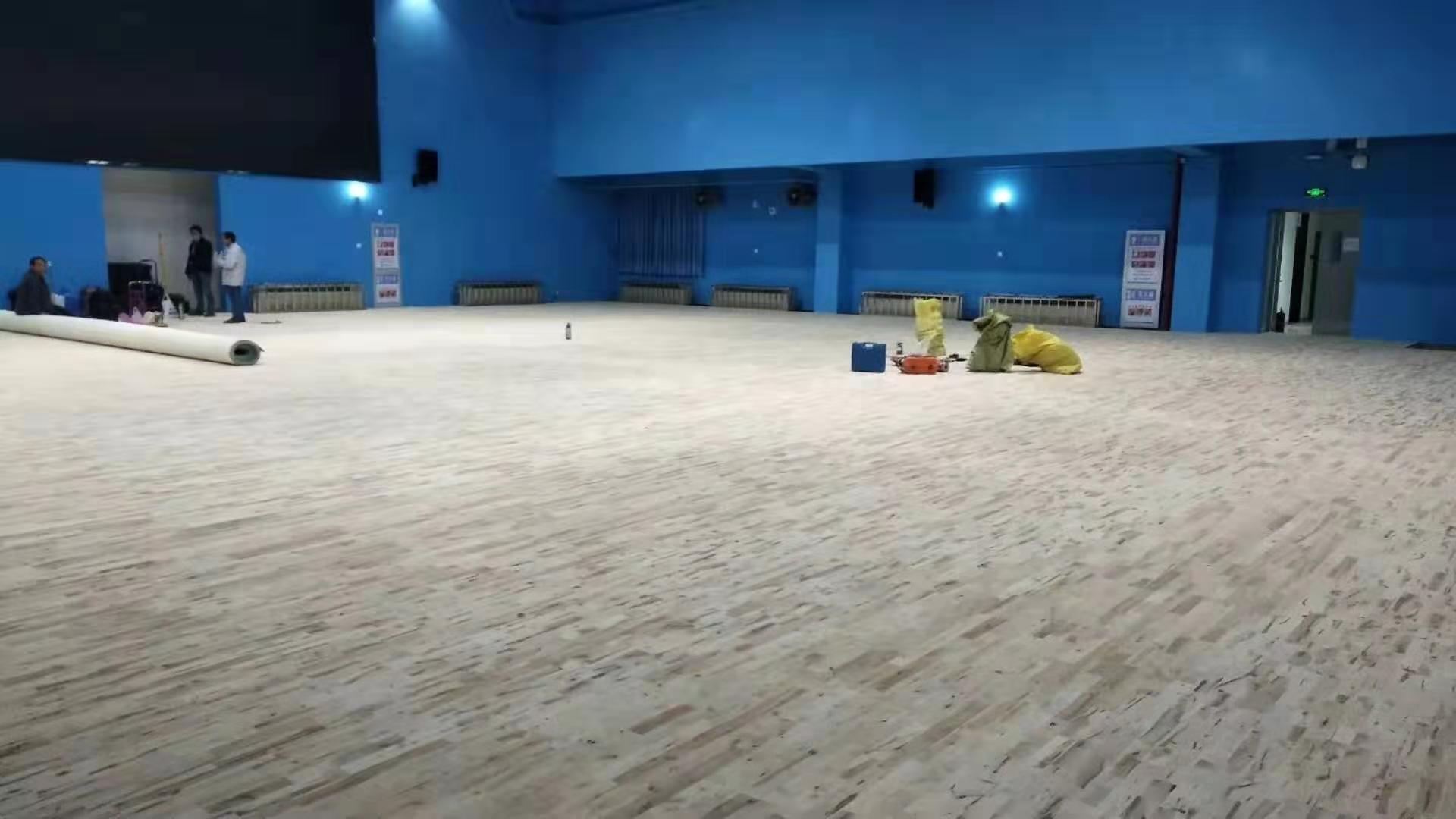 铜川篮球运动木地板划线