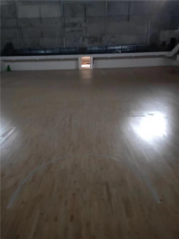 遂宁活动中心木地板施工
