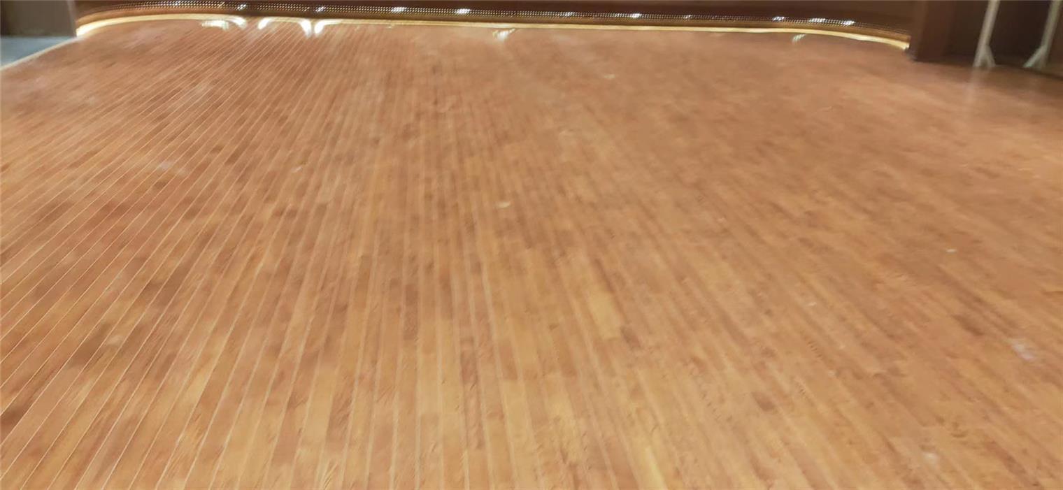 苏州实木体育地板划线