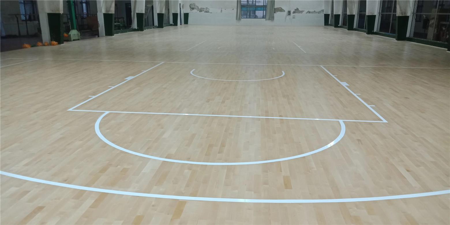 潜江实木体育地板划线