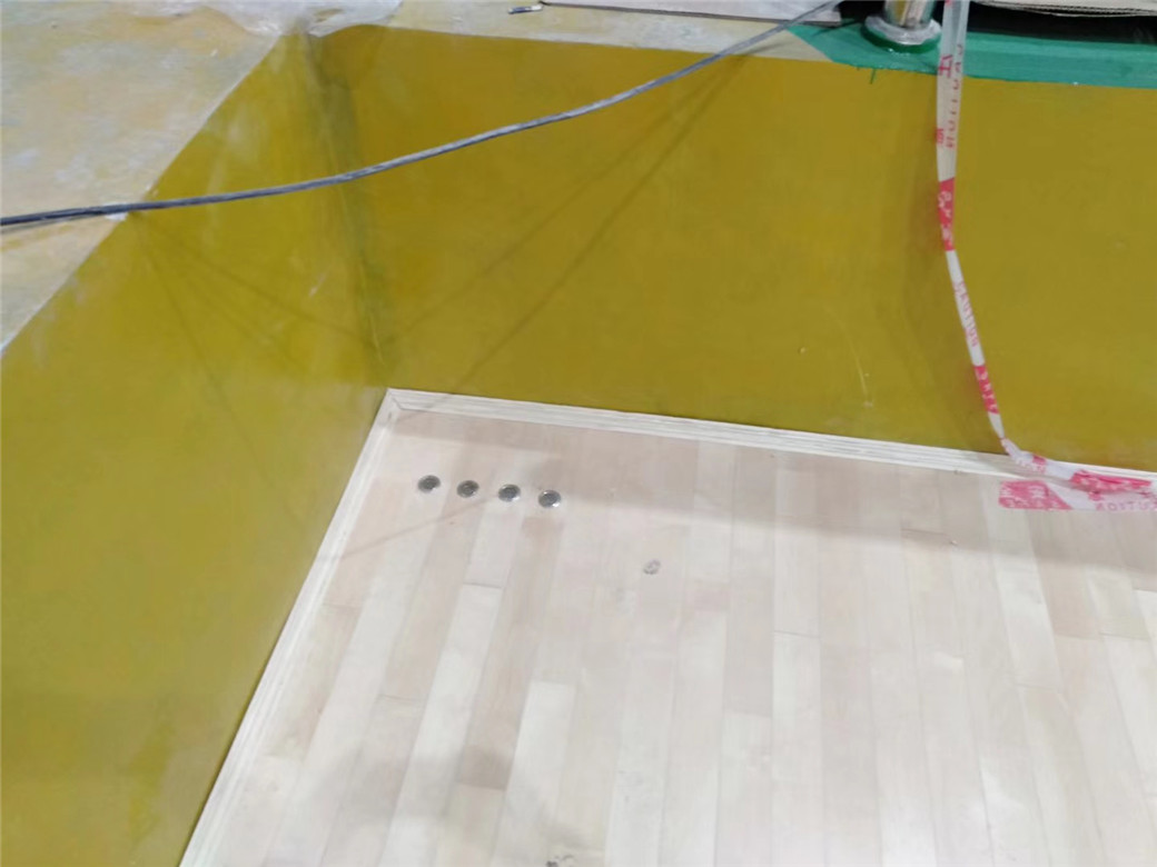 鄂州实木体育地板安装