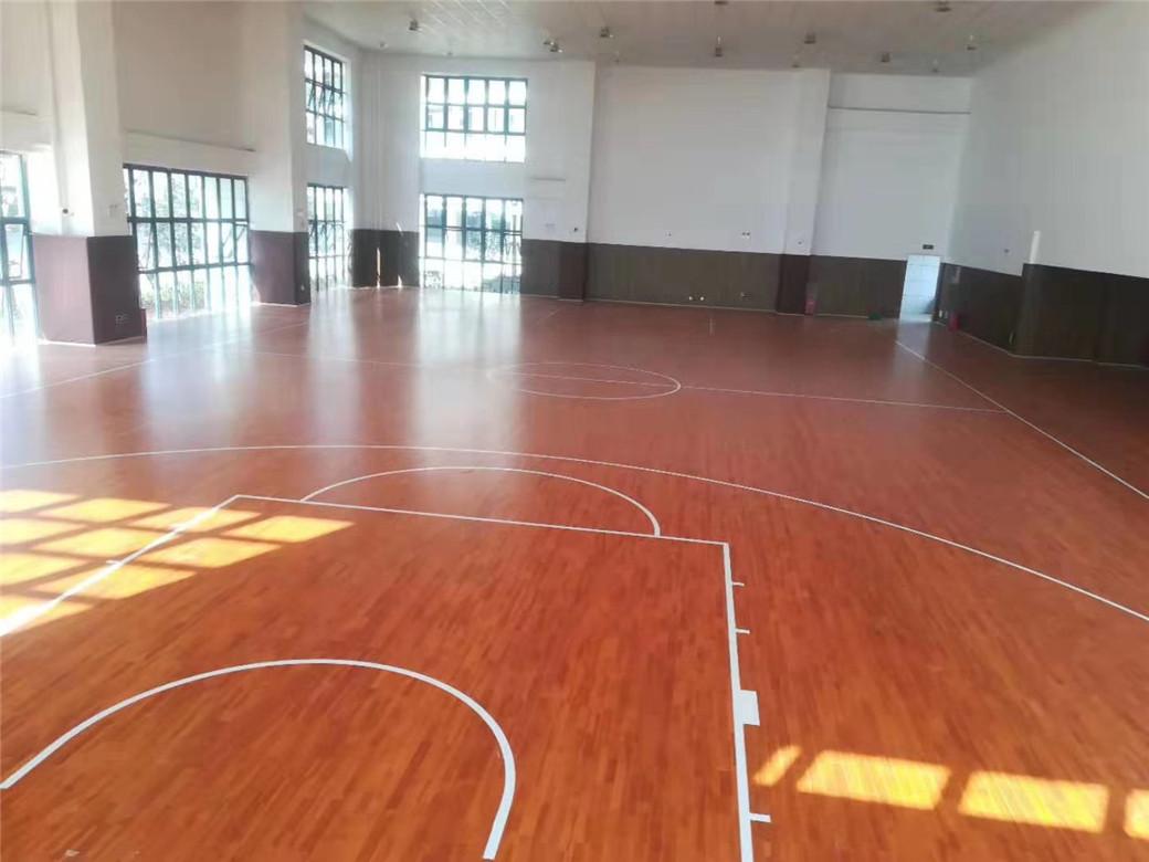 忻州实木体育地板划线