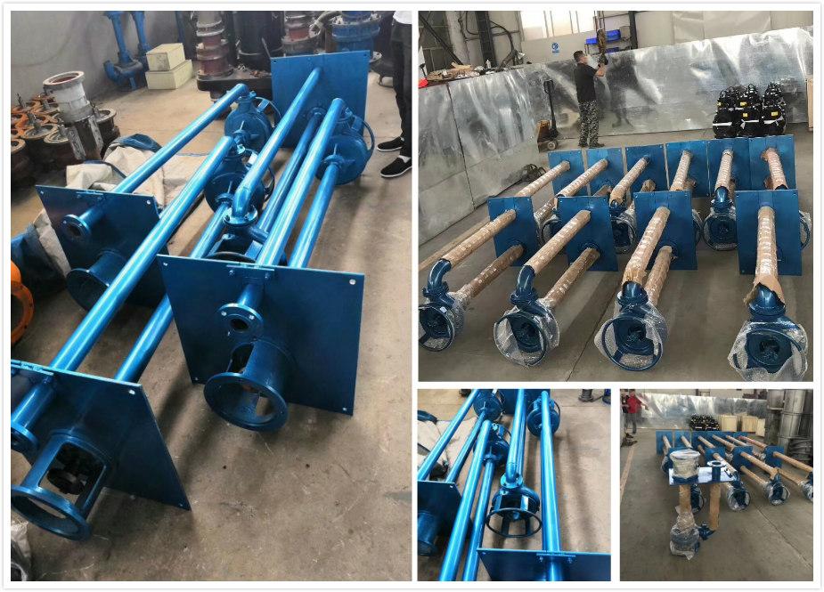 北京选砂厂立式液下泥沙泵 长杆液下吸沙泵 两边可安装铰刀