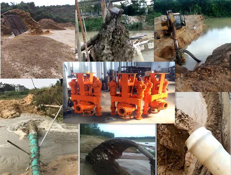 济南桥墩施工挖机抽沙泵 钩机抽沙泵 产量大 耗能低